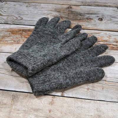 Ангоровые мужские перчатки универсального размера серого цвета (модель IPCH001)