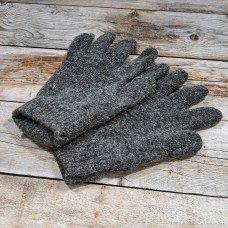 Ангоровые серые мужские перчатки универсального размера IPCH001