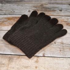 Ангоровые коричневые мужские перчатки универсального размера IPCH003