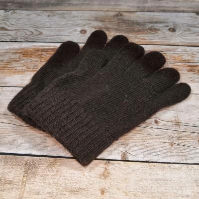 Ангоровые мужские перчатки универсального размера коричневого цвета (модель IPCH003)