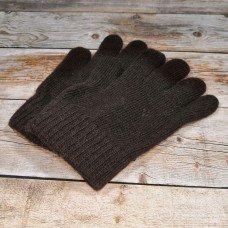 Ангорові коричневі чоловічі рукавиці універсального розміру IPCH003