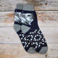 Мужские теплые носки из шерсти ангоры Angorka ICH074blu 42 размера
