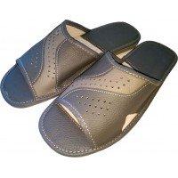 Комнатные мужские кожаные тапочки Cobi-m C415-04 45 размер