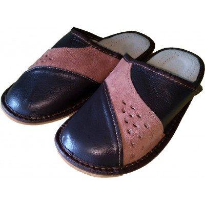 Комнатные мужские кожаные тапочки Cobi-m 40 размер 25,5 см (модель C417-01)