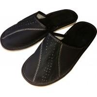 Комнатные мужские кожаные тапочки Cobi-m C417-02