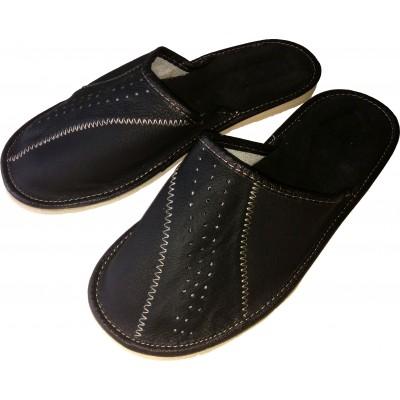 Комнатные мужские кожаные тапочки Cobi-m 41 размер 26 см (модель C417-02)