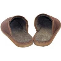 Комнатные подростковые утепленные замшевые тапочки Nowbut N110-07