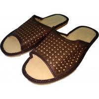 Комнатные мужские кожаные тапочки Nowbut N399