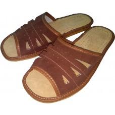 Комнатные мужские кожаные тапочки Nowbut N405