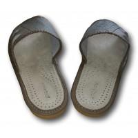 Комнатные мужские кожаные тапочки Nowbut N422