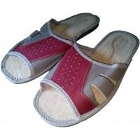Комнатные мужские кожаные тапочки Nowbut N423