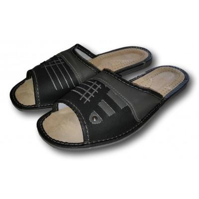 Комнатные мужские кожаные тапочки Nowbut (модель N425)