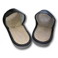 Комнатные мужские кожаные тапочки Nowbut N425