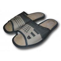 Комнатные мужские кожаные тапочки Nowbut N426