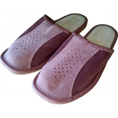 Комнатные мужские кожаные тапочки Nowbut (модель N509)