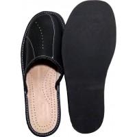 Комнатные мужские кожаные тапочки Nowbut N514