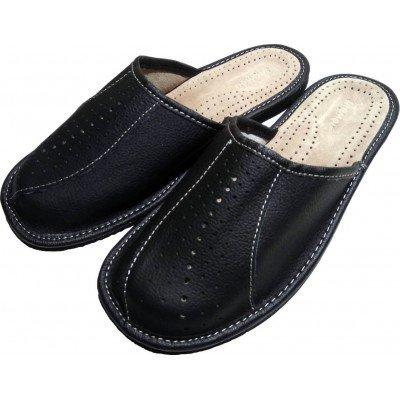 Комнатные мужские кожаные тапочки Nowbut (модель N514)