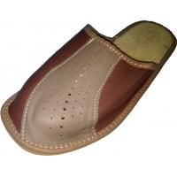 Комнатные мужские кожаные тапочки Nowbut N518