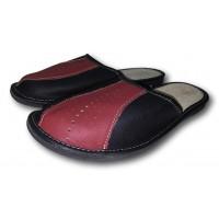 Комнатные мужские кожаные тапочки Nowbut N519