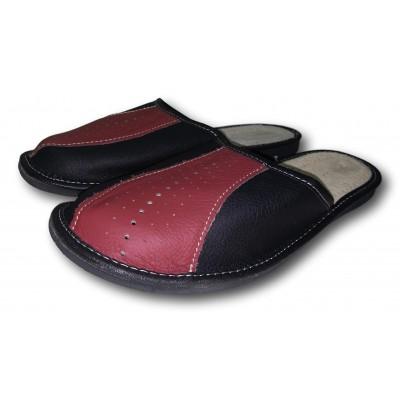 Комнатные мужские кожаные тапочки Nowbut (модель N519)