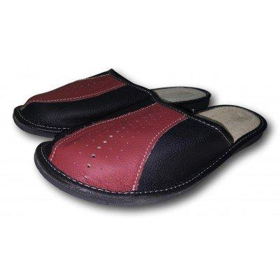 Комнатные мужские кожаные тапочки Nowbut 42 размера 27 см (модель N519)