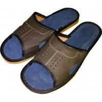Комнатные мужские кожаные тапочки Polmar P103 44 размера. Уценка.