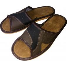 Комнатные мужские кожаные тапочки Polmar P146