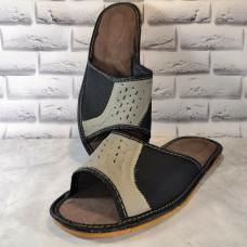 Комнатные мужские кожаные тапочки Polmar P211