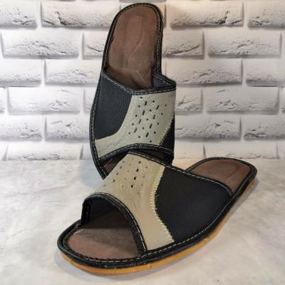 Комнатные мужские кожаные тапочки Polmar 40 размера 25,7 см (модель P211)