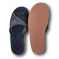 Комнатные мужские кожаные тапочки Polmar P229