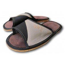 Комнатные мужские кожаные тапочки Polmar P229br 45 размера