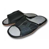 Комнатные мужские кожаные тапочки Polmar P240