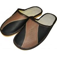 Комнатные мужские кожаные тапочки Polmar P246-01