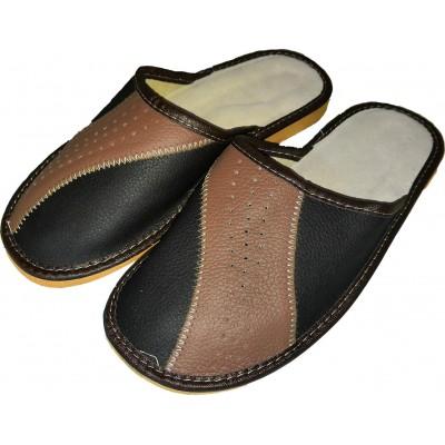 Мужские кожаные домашние тапочки Polmar (модель P246-01)