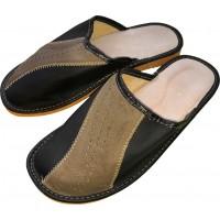 Комнатные мужские кожаные тапочки Polmar P246-04