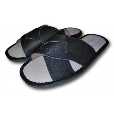Мужские кожаные домашние тапочки TapMal 43 размера 27.2 см (модель С174)