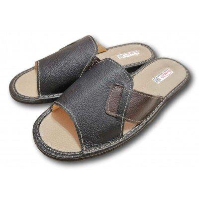Мужские кожаные домашние тапочки TapMal 42 размера 26.5 см (модель С233)