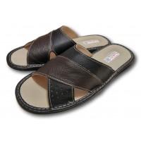 Комнатные мужские кожаные тапочки TapMal С235
