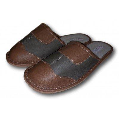 Мужские кожаные домашние тапочки  TapMal 41 размер 26 см (модель С315)