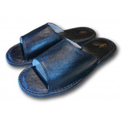 Мужские кожаные домашние тапочки на усиленной подошве TapMal 45 размера 29 см (модель С2)