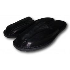 Комнатные мужские кожаные тапочки на усиленной подошве TapMal C105