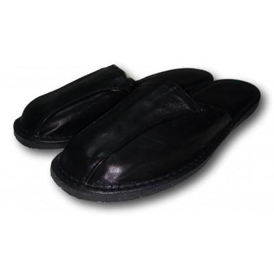 Мужские кожаные домашние тапочки на усиленной подошве TapMal (модель С105)