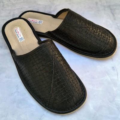 Мужские кожаные домашние тапочки  TapMal (модель С127)