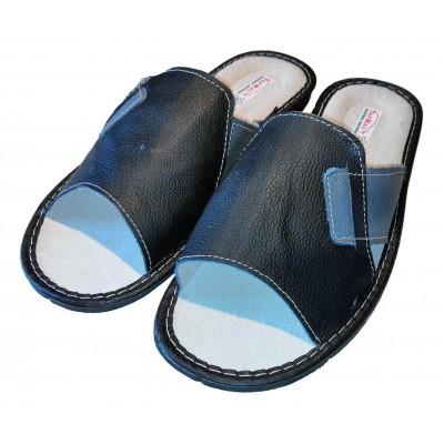 Мужские кожаные домашние тапочки TapMal 42 размер 26,5 см (модель C259)