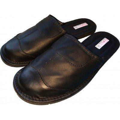 Комнатные мужские кожаные тапочки TapMal 44 размер 28,5 см (модель C30)