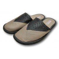 Комнатные мужские кожаные тапочки TapMal С381 46 размер