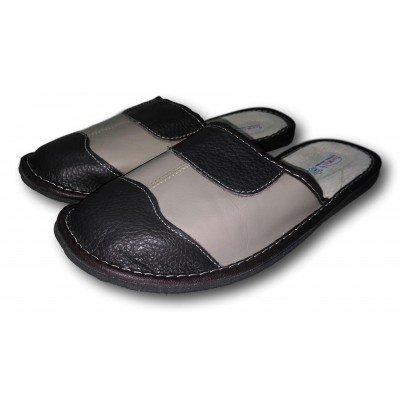 Мужские кожаные домашние тапочки  TapMal 41 размер 25,8 см (модель С49)