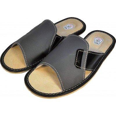 Мужские кожаные домашние тапочки TapMal 45 размер 28,2 см (модель C69)