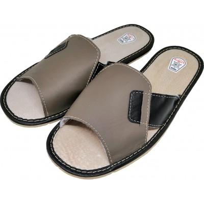 Мужские кожаные домашние тапочки TapMal 42 размер 26,5 см (модель C99)