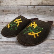 Комнатные мужские паркетные войлочные тапочки TapOK T102brb коричневые